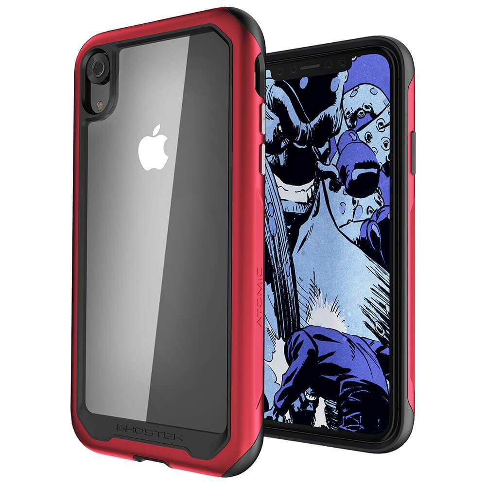 iPhone Xr Case, Ghostek Atomic Slim 2 Series  for iPhone Xr Rugged Heavy Duty Case|RED