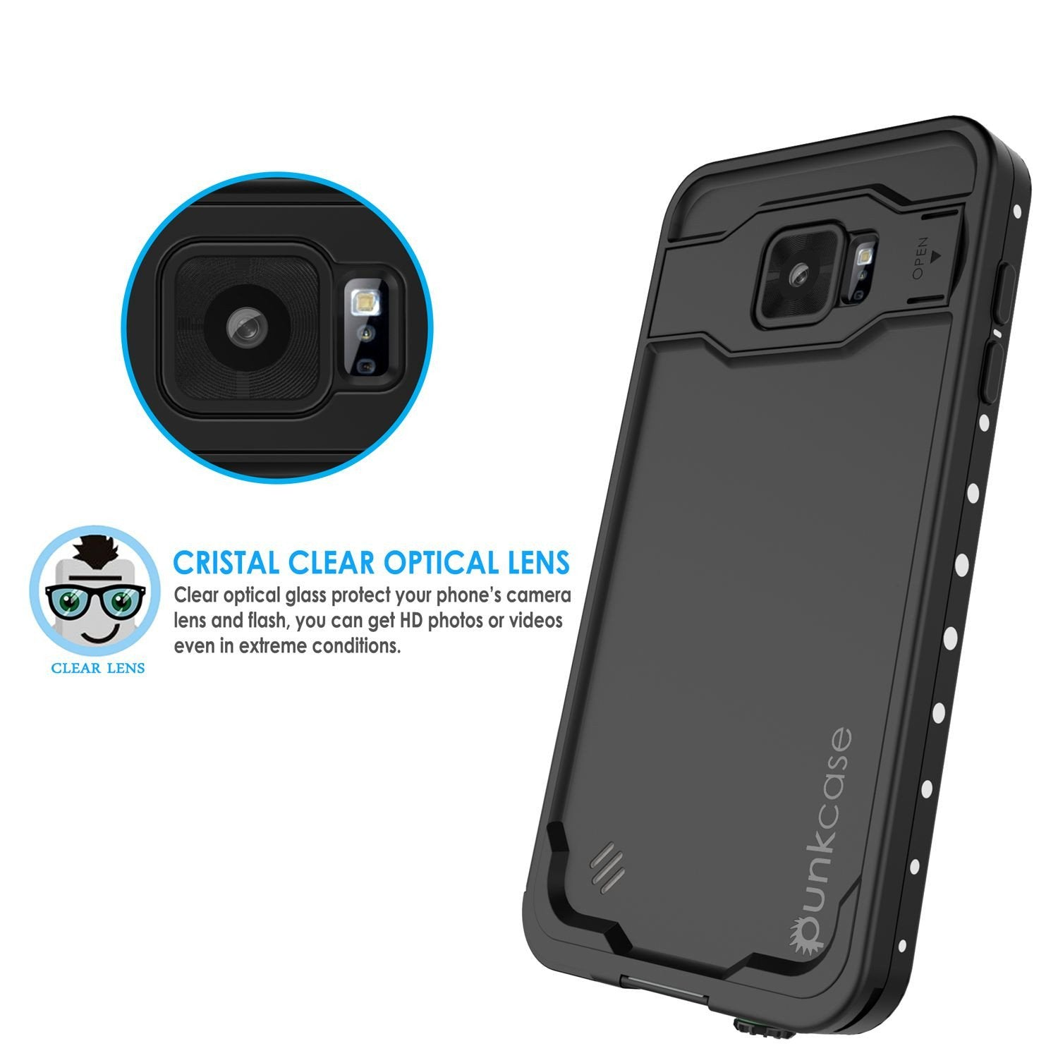 Galaxy Note 5 Waterproof Case, Punkcase StudStar White Shock/Dirt/Snow Proof | Lifetime Warranty