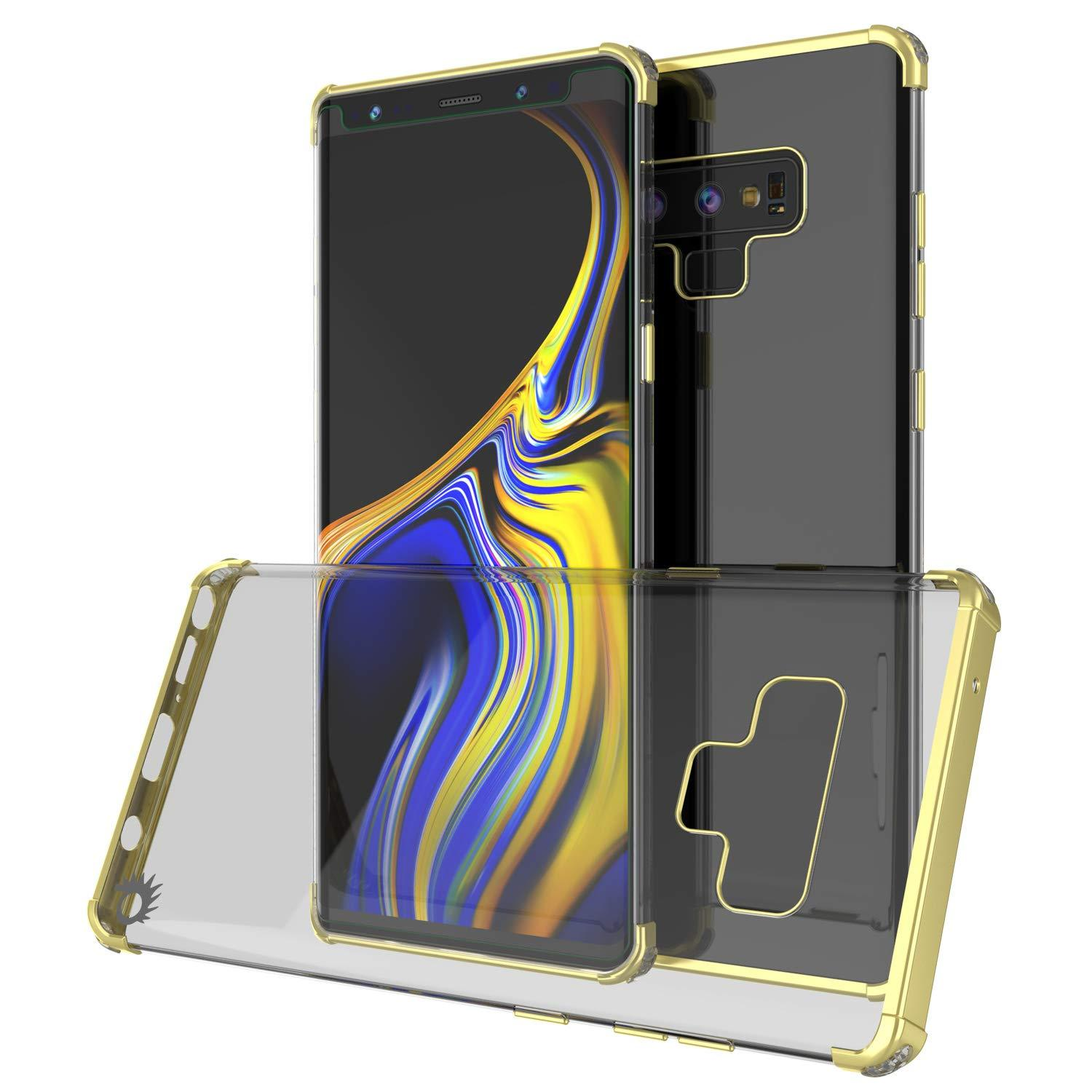 Galaxy Note 9 Blaze Series Shockproof Slim Case W/PunkShield Screen Protector [Gold]