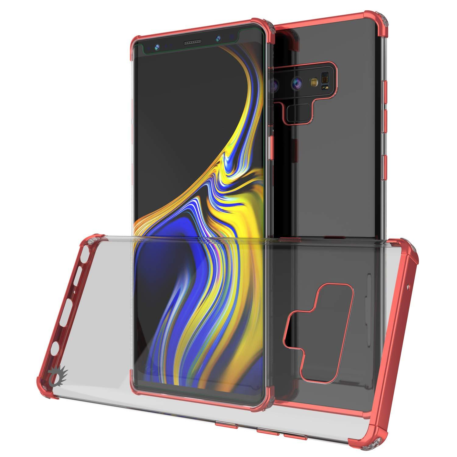 Galaxy Note 9 Blaze Series Shockproof Slim Case W/PunkShield Screen Protector [Red]