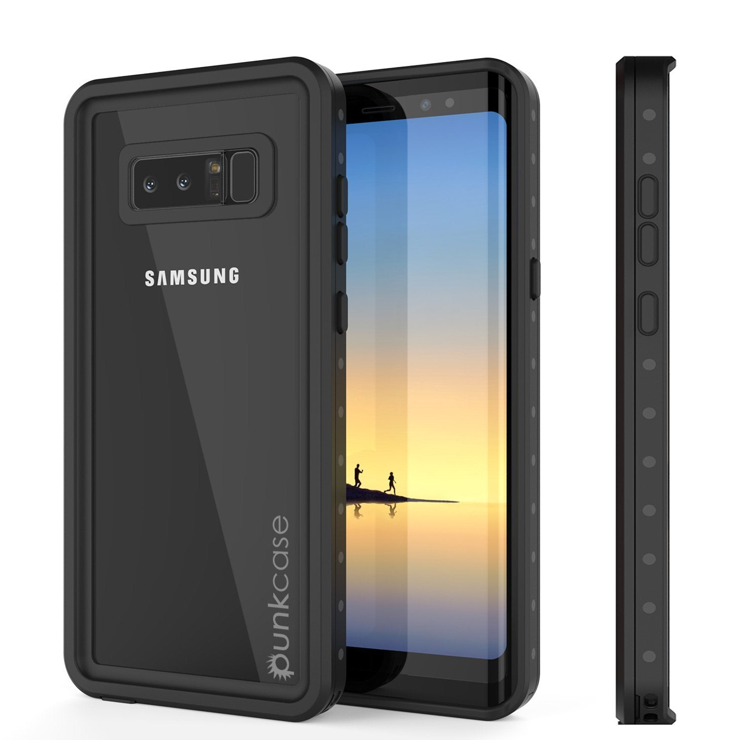 Galaxy Note 8 Waterproof Case, Punkcase [StudStar] [Slim Fit] [IP68 Certified] [Shock/Snow proof] Armor Cover [Clear]