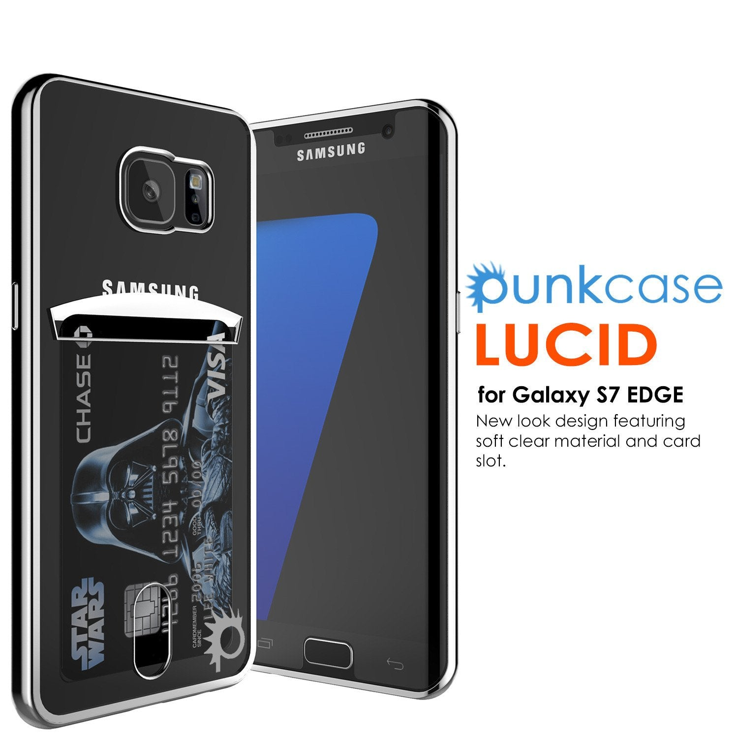 Galaxy S7 Case, PUNKCASE® LUCID Silver Series | Card Slot | SHIELD Screen Protector | Ultra fit