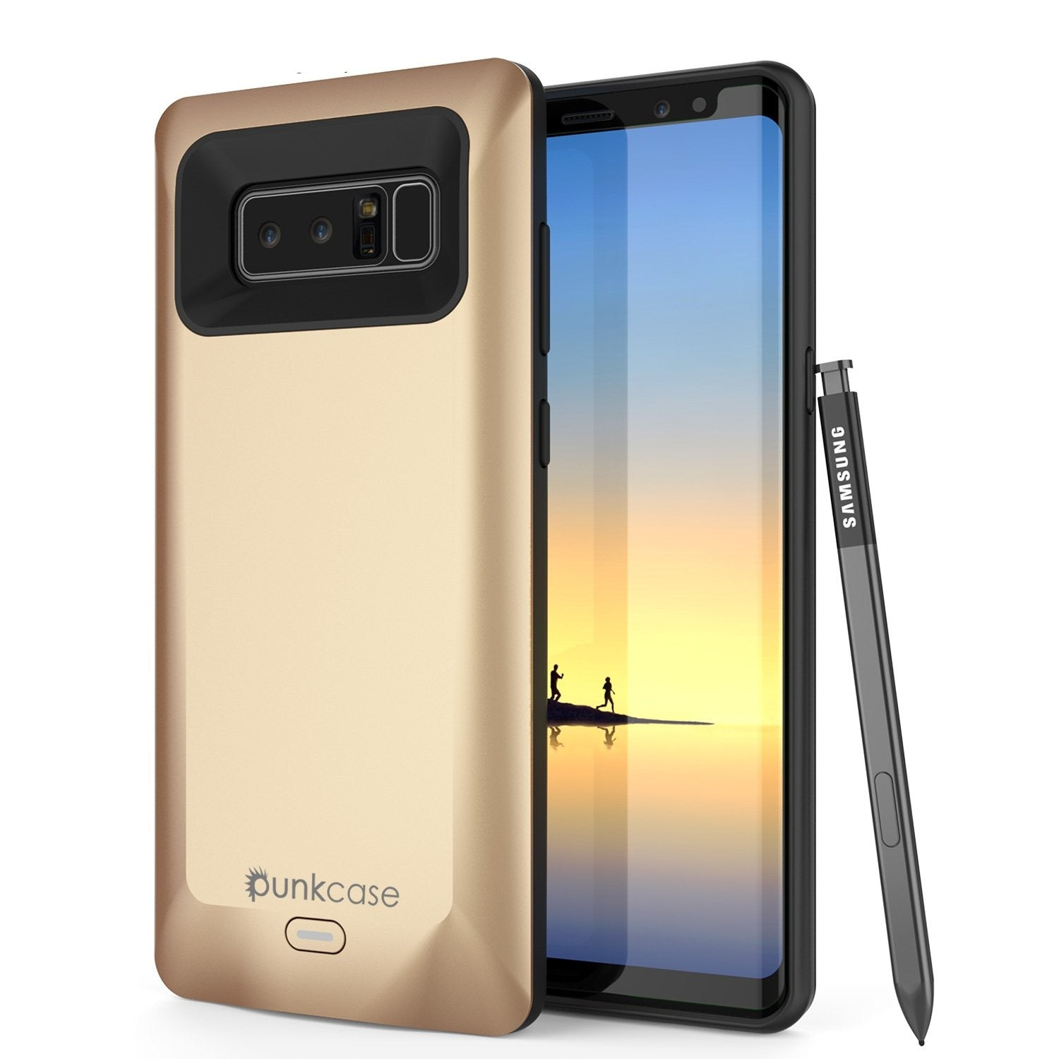 Galaxy Note 8 5000mAH Battery Charger Case W/ Screen Protector [Gold]