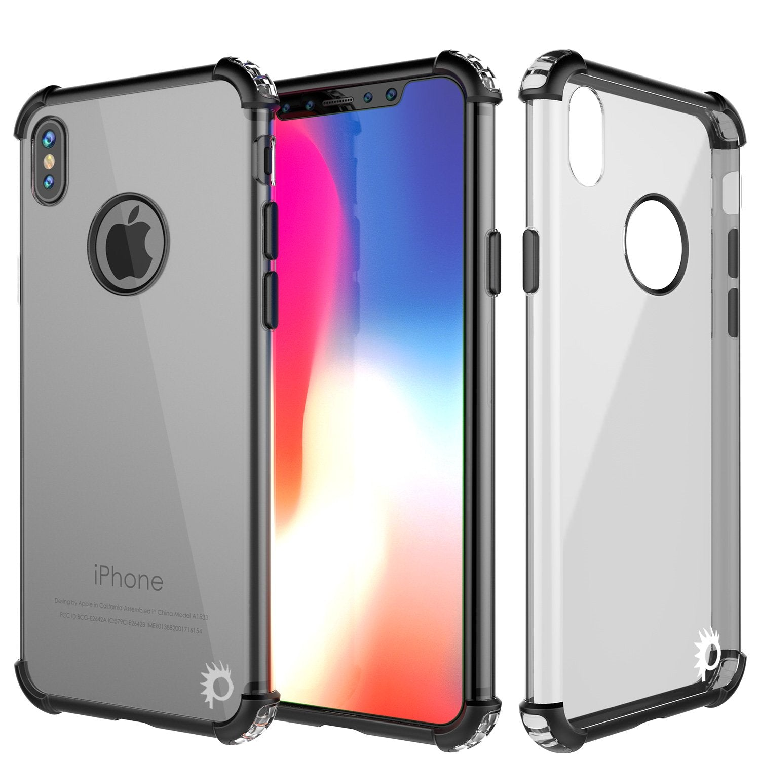 iPhone X Case, Punkcase [BLAZE SERIES] Protective Cover W/ PunkShield Screen Protector [Shockproof] [Slim Fit] for Apple iPhone 10 [Black]