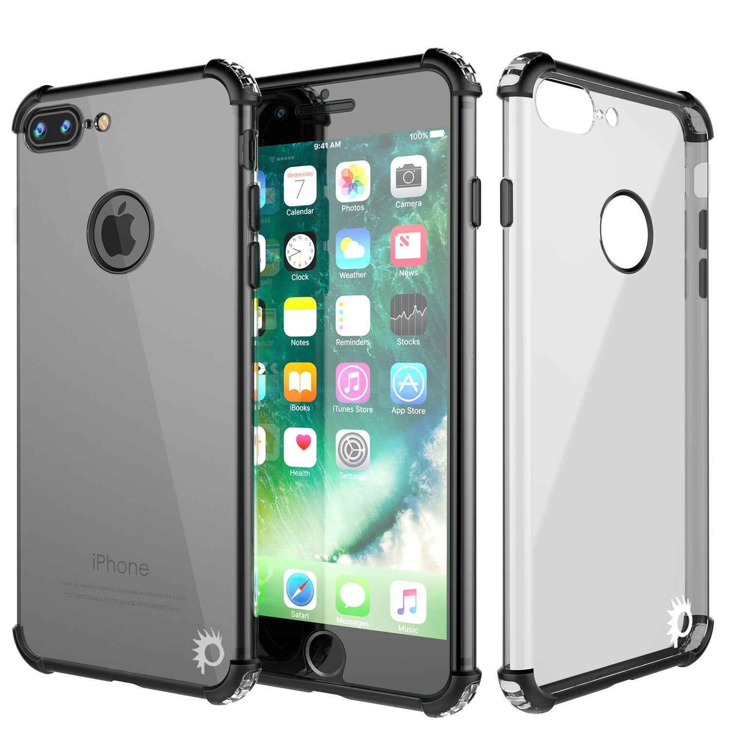 iPhone 7 PLUS Case, Punkcase BLAZE SERIES Protective Cover [Black]