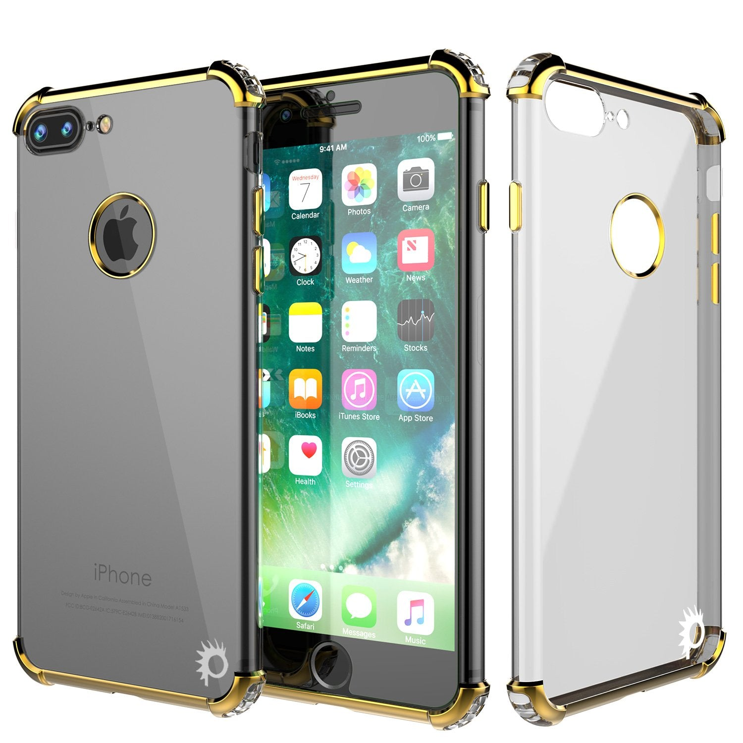 iPhone 7 PLUS Case, Punkcase BLAZE SERIES Protective Cover [Gold]