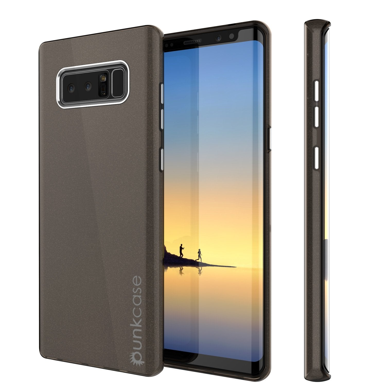 Galaxy Note 8 Case, Punkcase Galactic 2.0 Series Ultra Slim Protective Armor [Black/grey]