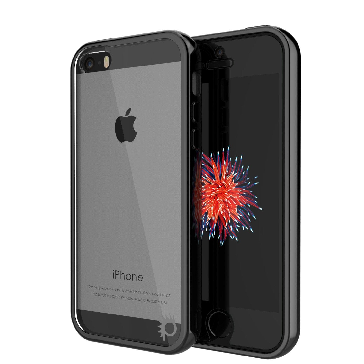 iPhone SE/5S/5 Case Punkcase® LUCID 2.0 Black Series w/ PUNK SHIELD Screen Protector | Ultra Fit