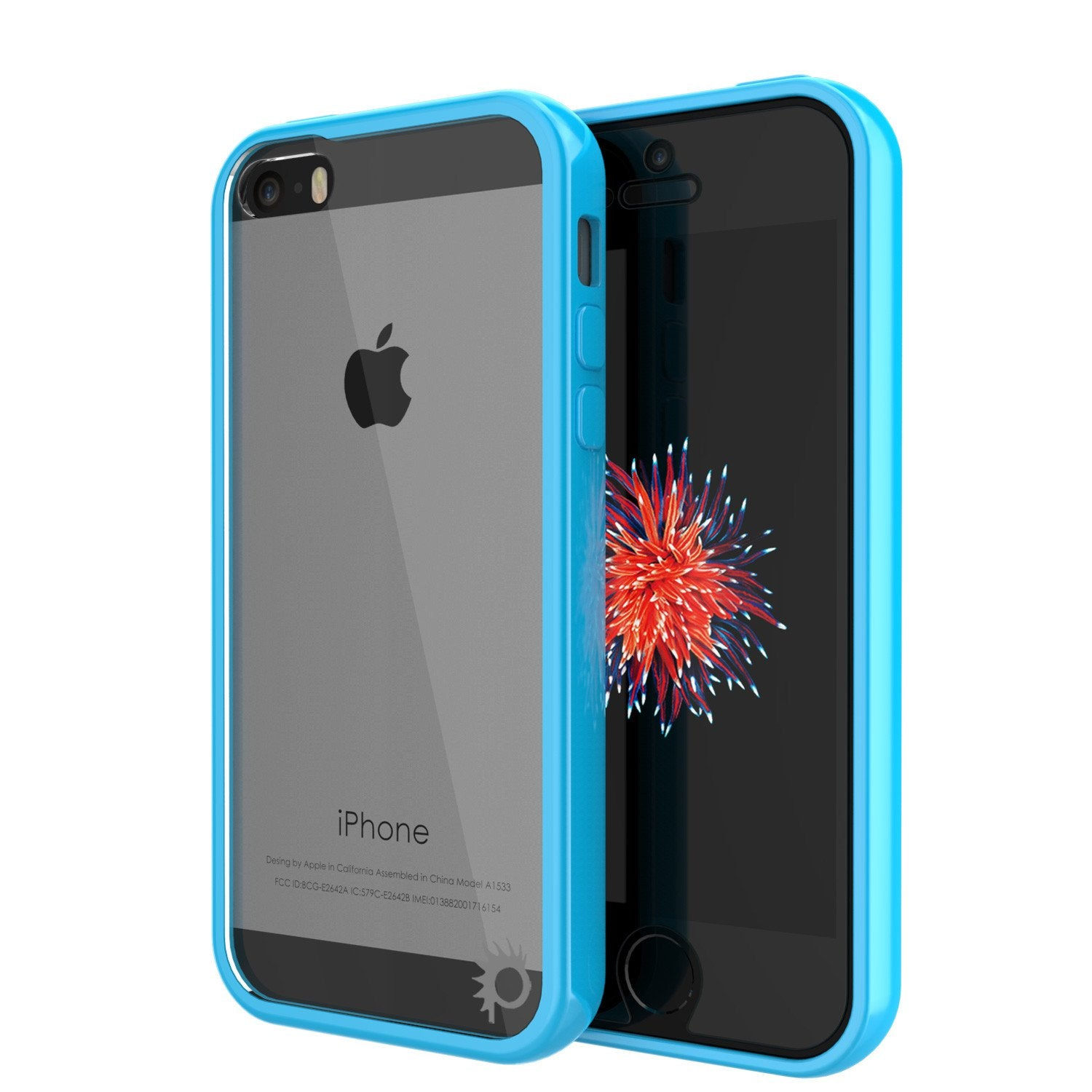 iPhone SE/5S/5 Case Punkcase® LUCID 2.0 Light Blue Series w/ PUNK SHIELD Screen Protector | Ultra Fit