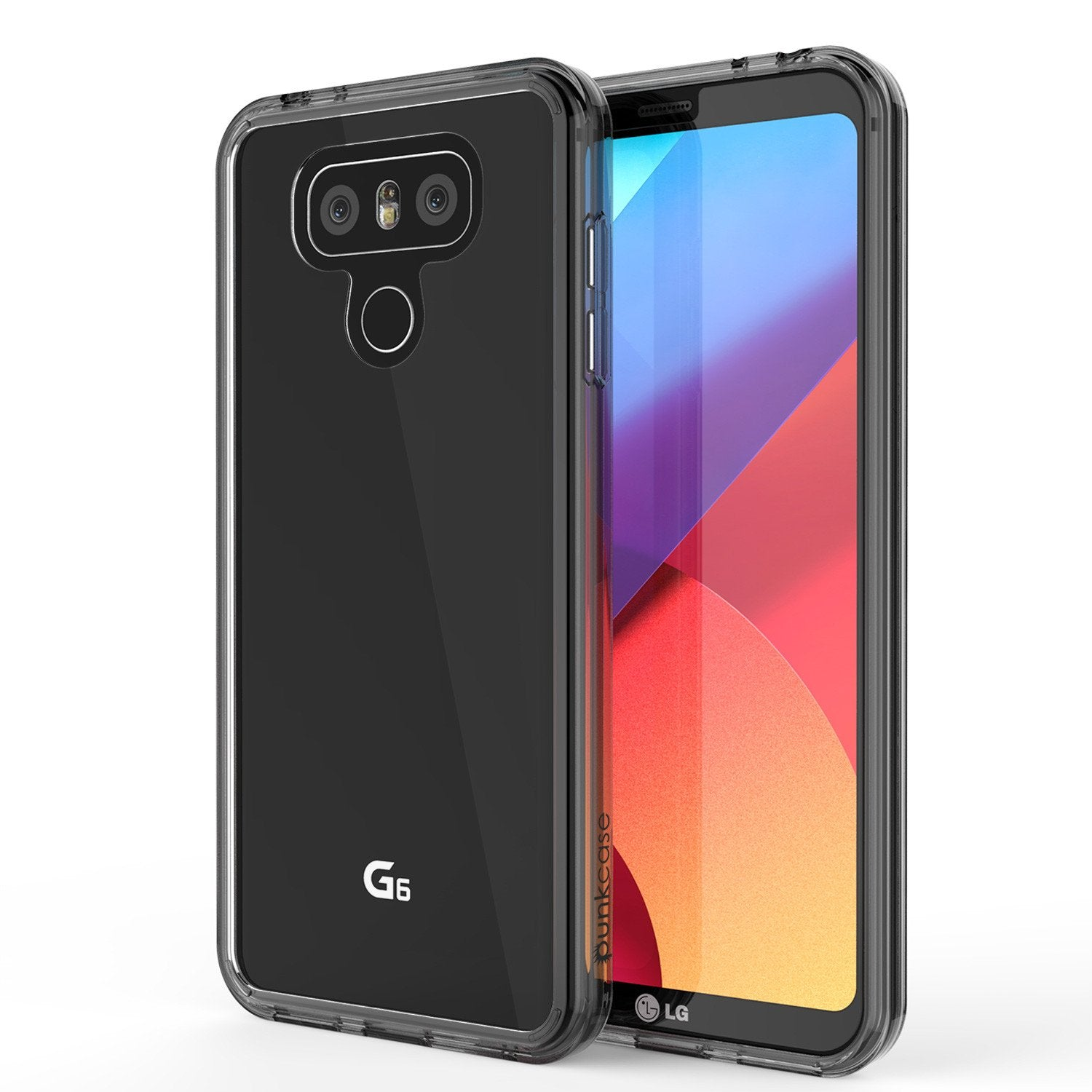 LG G6 Case Punkcase® LUCID 2.0 Crystal Black Series w/ PUNK SHIELD Screen Protector | Ultra Fit