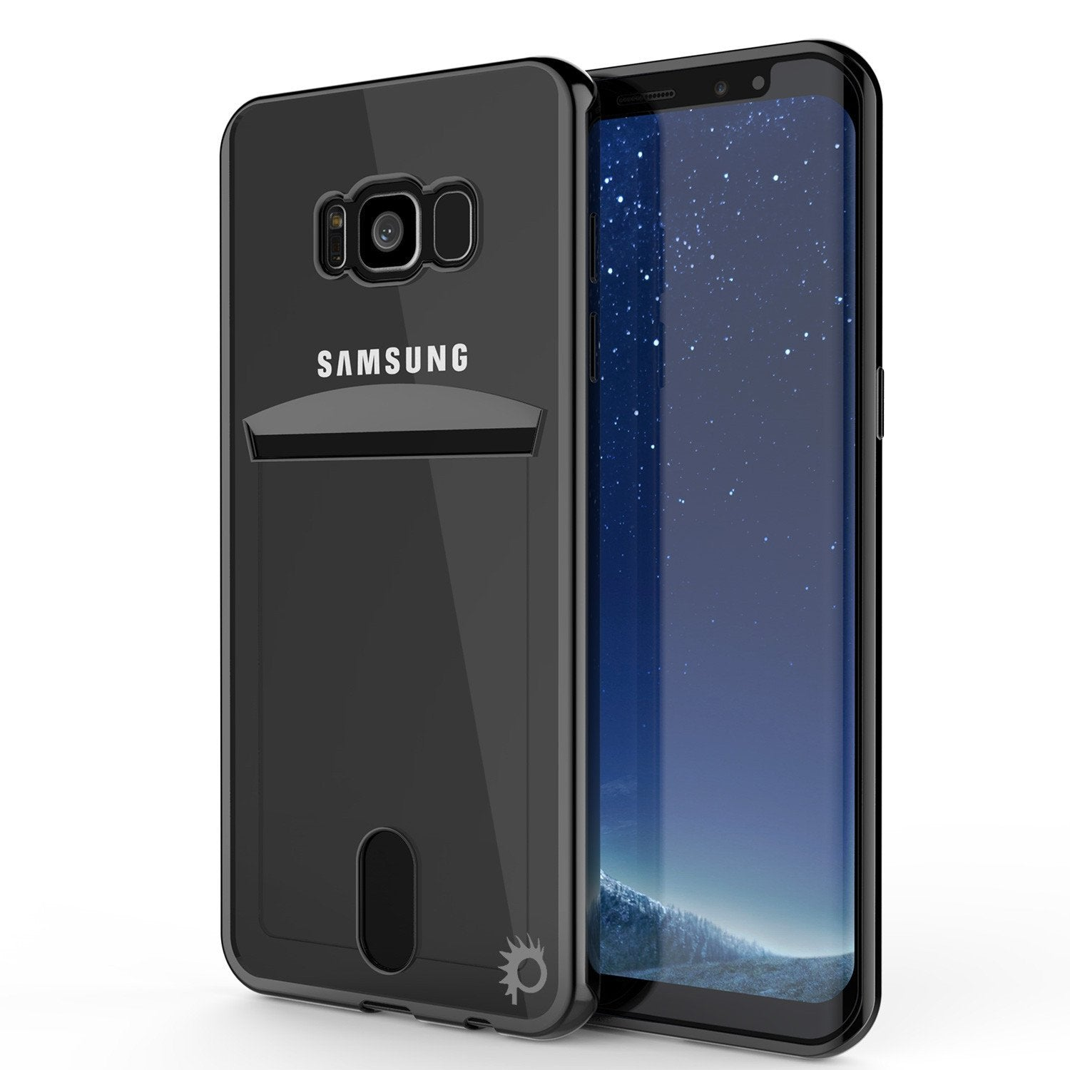 Galaxy S8 Plus Ultra Screen Protector W/ Card Slot Case [Black Series]