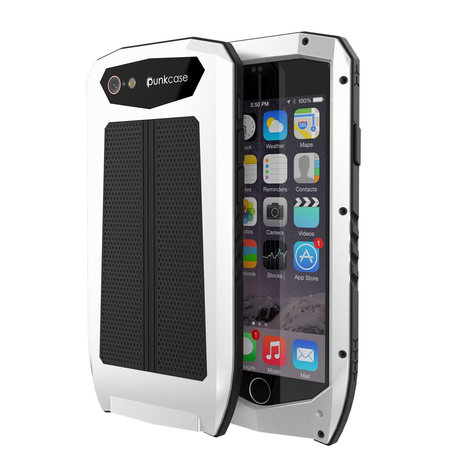 iPhone 6s/6 Case, Punkcase Metallic PRO White Series Cover W/ Attached Screen Protector | Touch-ID