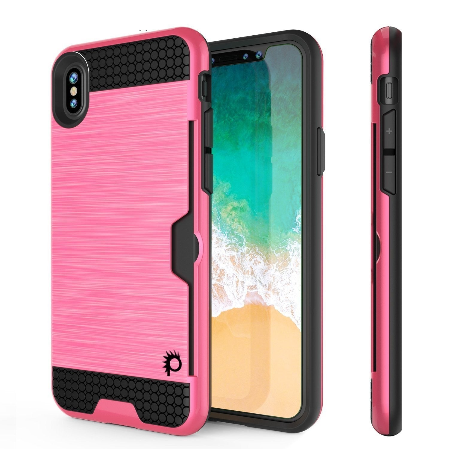 iPhone XR Case, PUNKcase [SLOT Series] Slim Fit Dual-Layer Armor Cover [Pink]