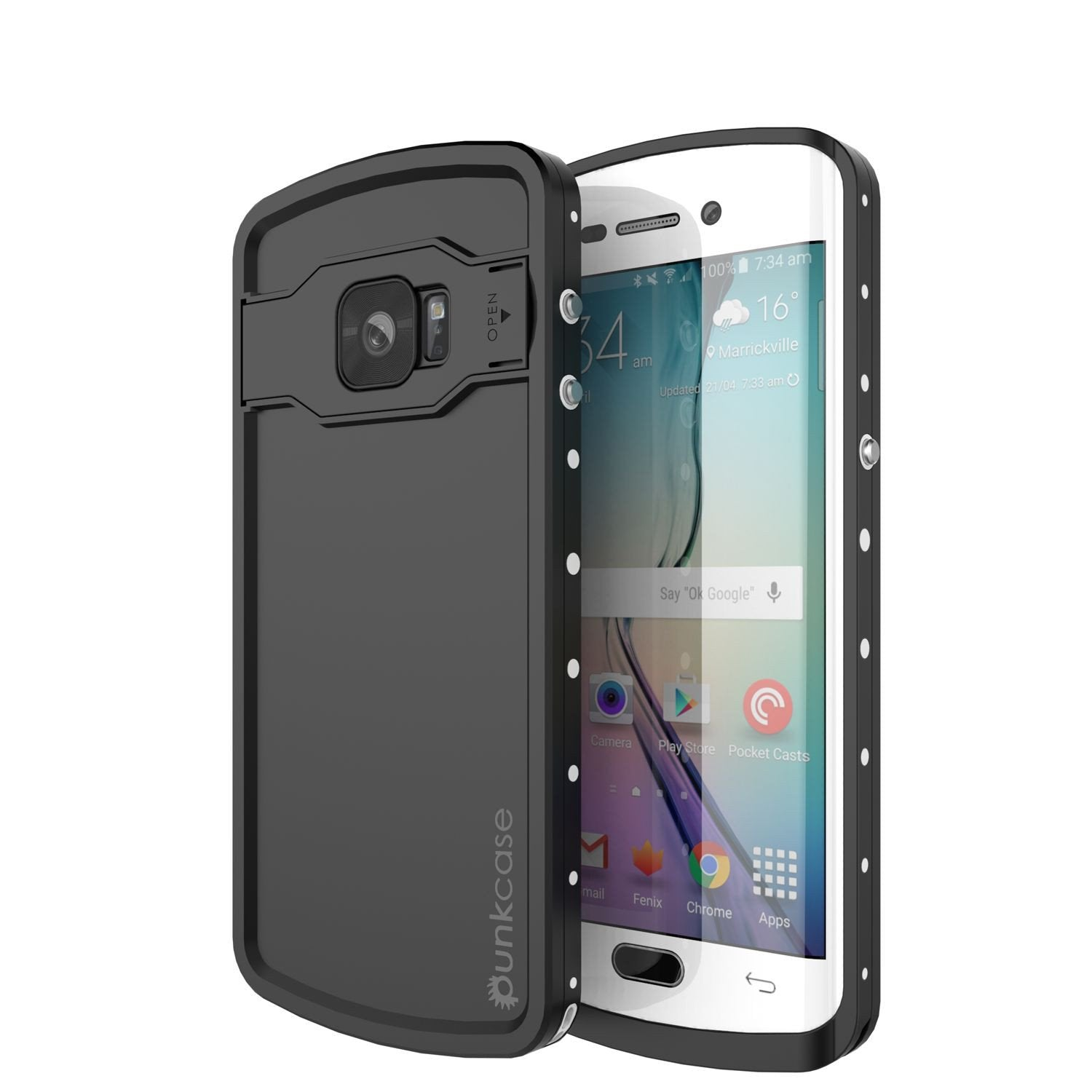 Galaxy S6 EDGE Plus Waterproof Case, Punkcase StudStar White Shock/Dirt Proof | Lifetime Warranty