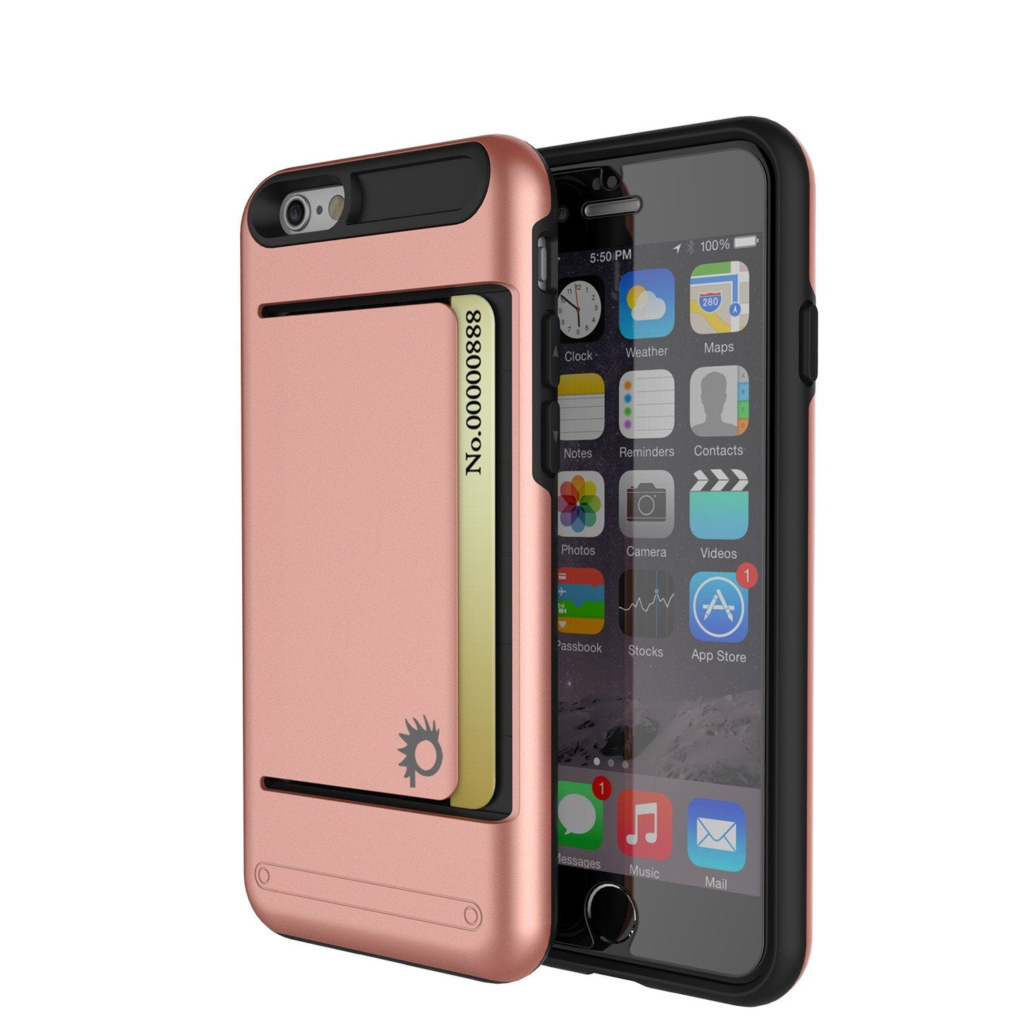 iPhone 6/6s Case PunkCase CLUTCH Rose Gold Series Slim Armor Soft Cover Case w/ Tempered Glass