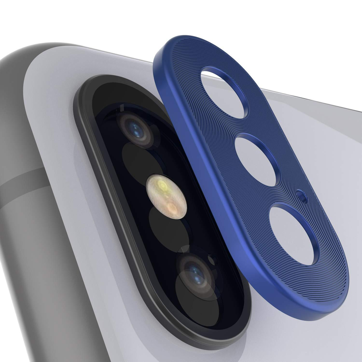 Punkcase iPhone XS Max Camera Protector Ring [Blue]