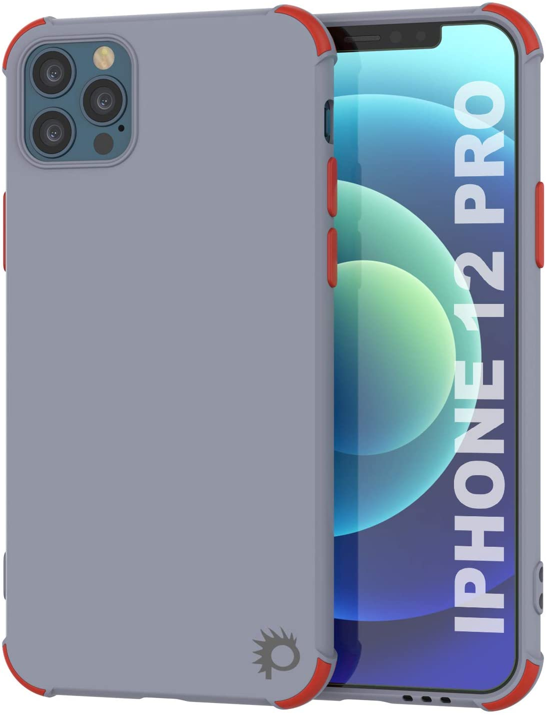 Punkcase Protective & Lightweight TPU Case [Sunshine Series] for iPhone 12 Pro [Grey]