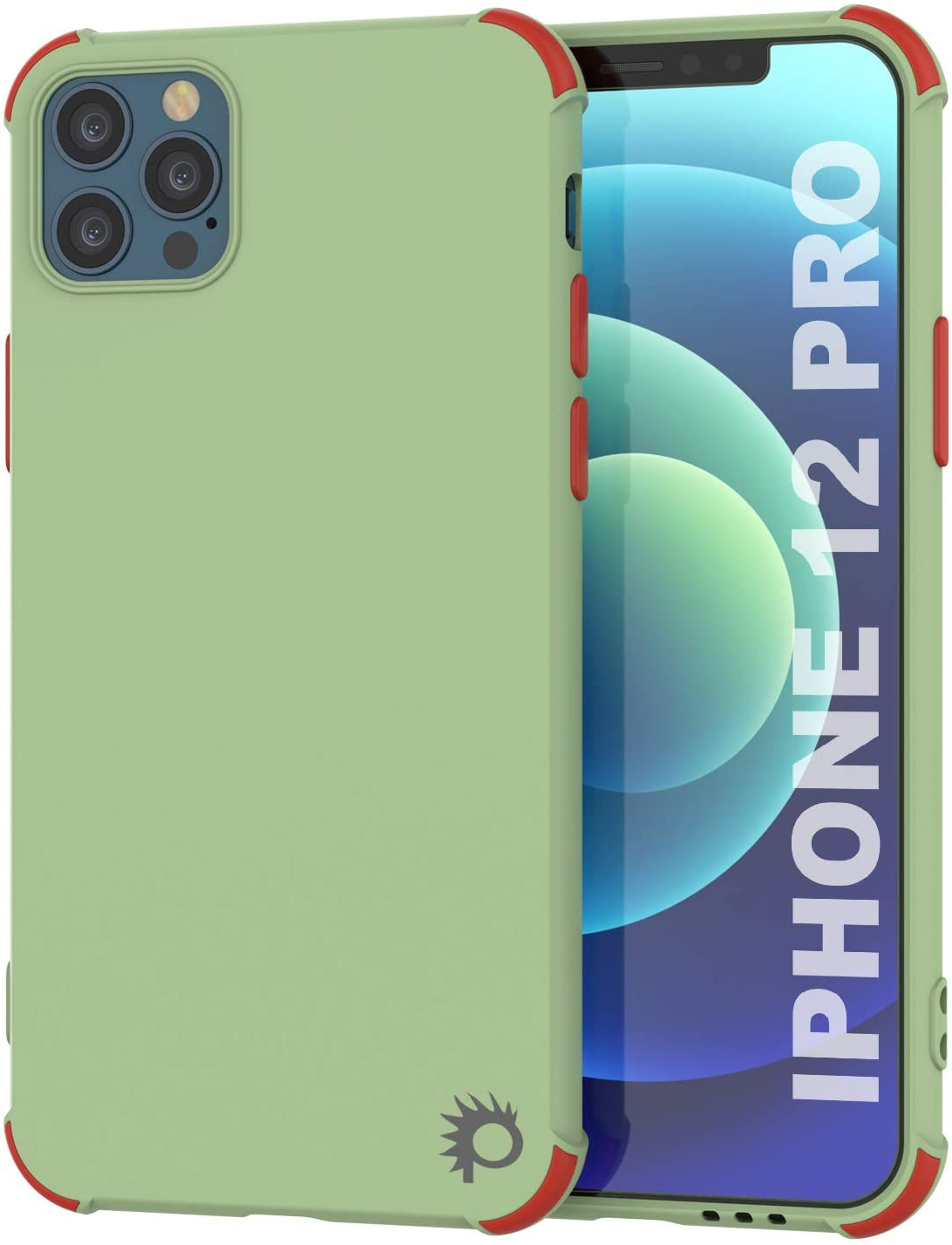 Punkcase Protective & Lightweight TPU Case [Sunshine Series] for iPhone 12 Pro [Light Green]
