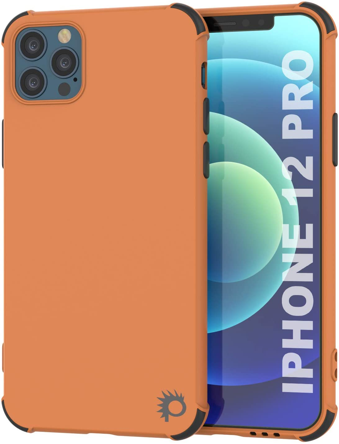 Punkcase Protective & Lightweight TPU Case [Sunshine Series] for iPhone 12 Pro [Orange]