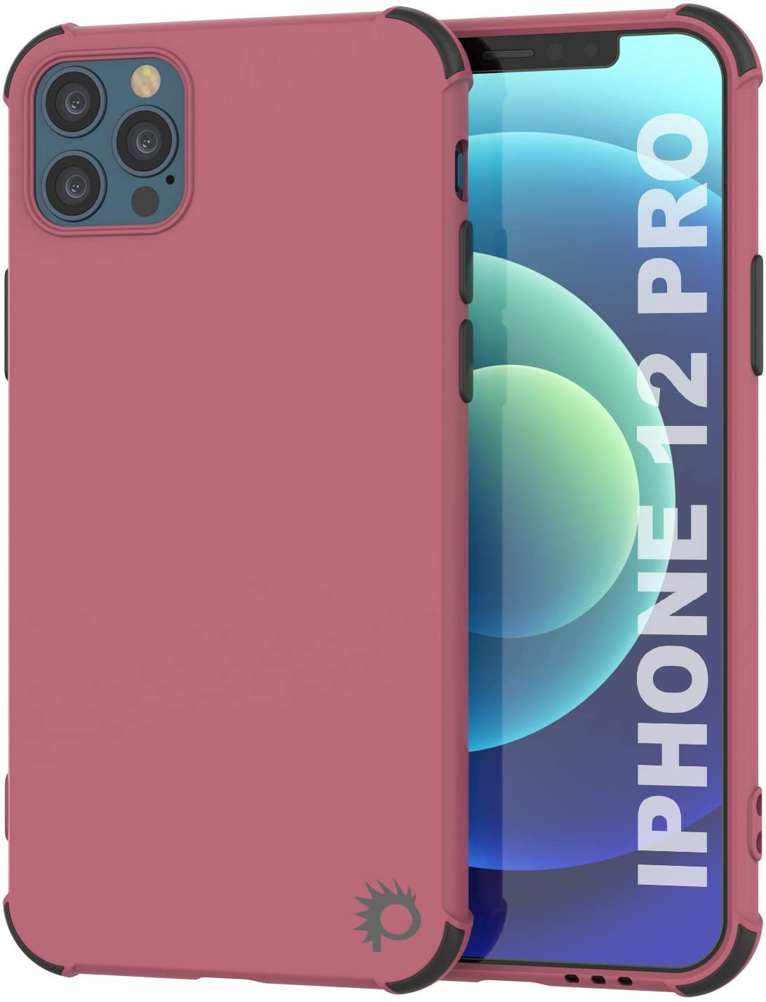 Punkcase Protective & Lightweight TPU Case [Sunshine Series] for iPhone 12 Pro [Rose]