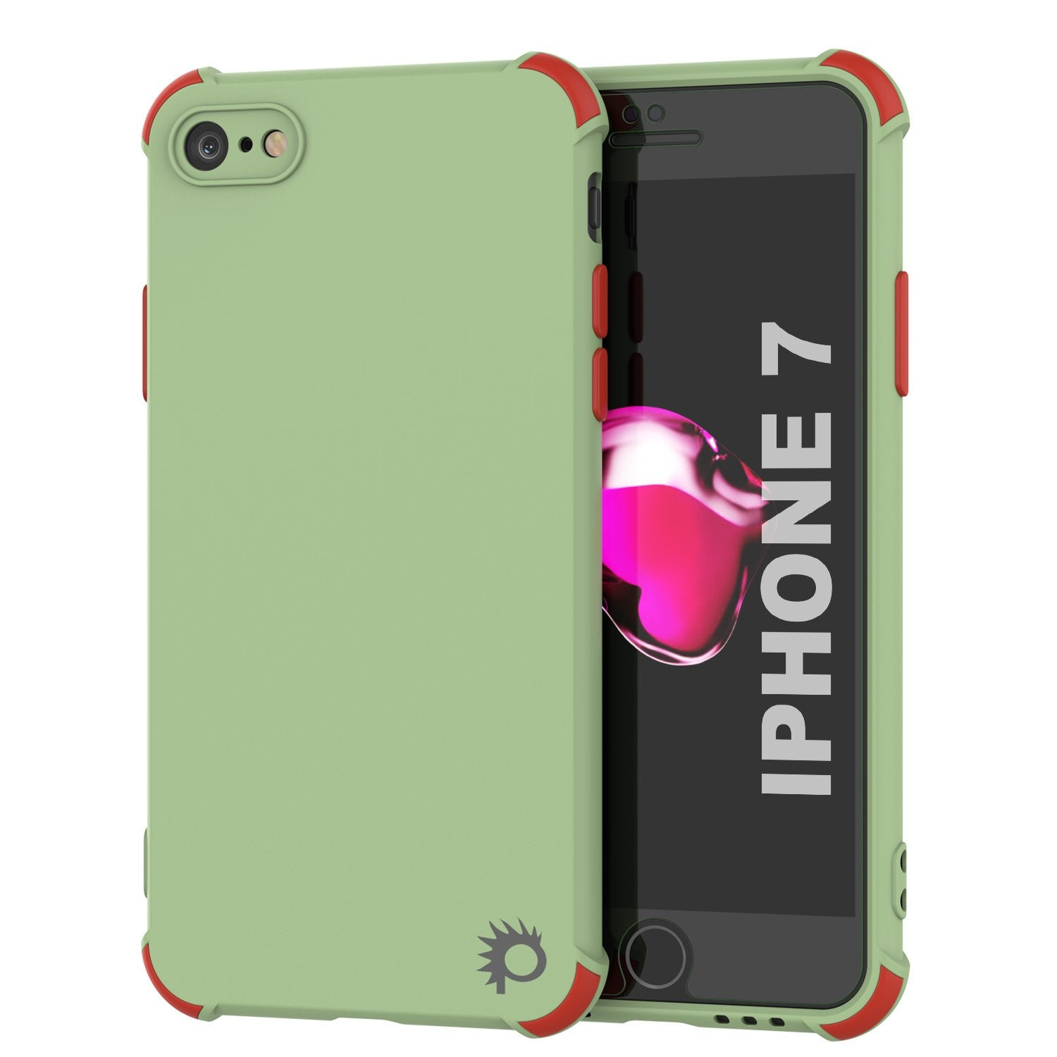 Punkcase Protective & Lightweight TPU Case [Sunshine Series] for iPhone 7 [Light Green]