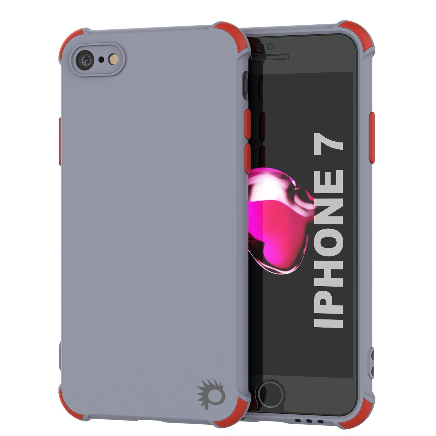 Punkcase Protective & Lightweight TPU Case [Sunshine Series] for iPhone 7 [Grey]