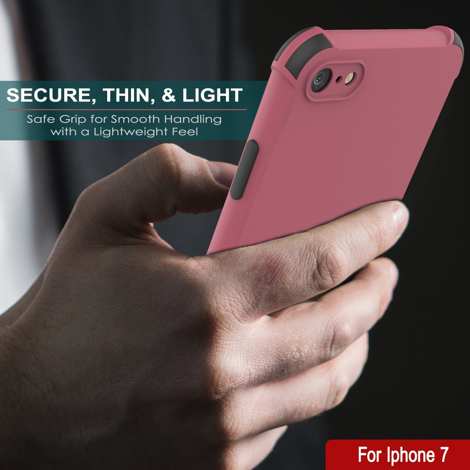 Punkcase Protective & Lightweight TPU Case [Sunshine Series] for iPhone 7 [Rose]