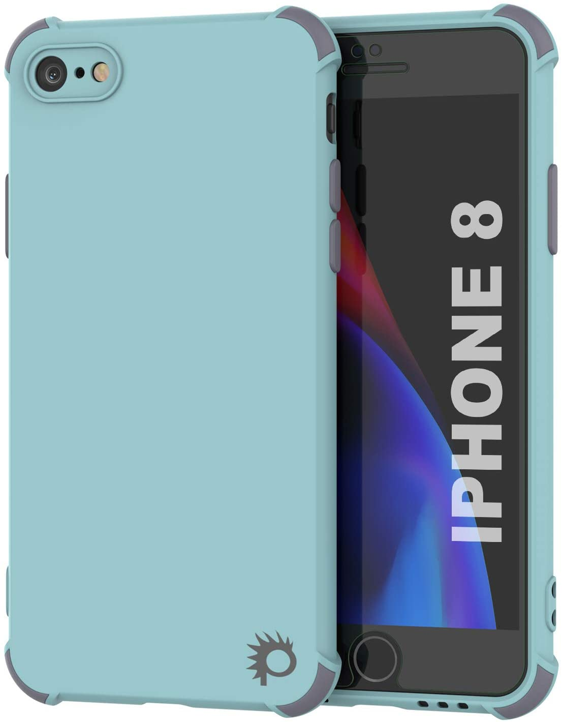 Punkcase Protective & Lightweight TPU Case [Sunshine Series] for iPhone 8 [Teal]