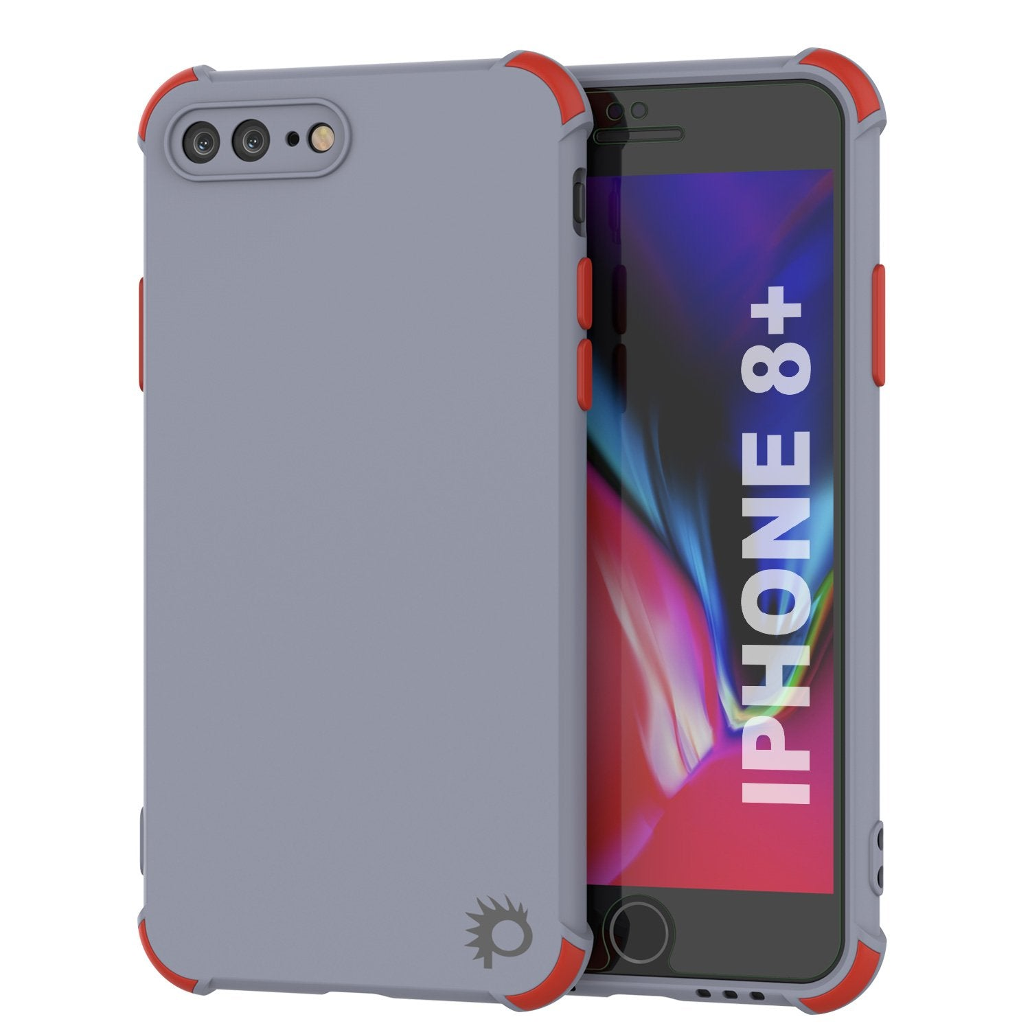 Punkcase Protective & Lightweight TPU Case [Sunshine Series] for iPhone 8+ Plus [Grey]