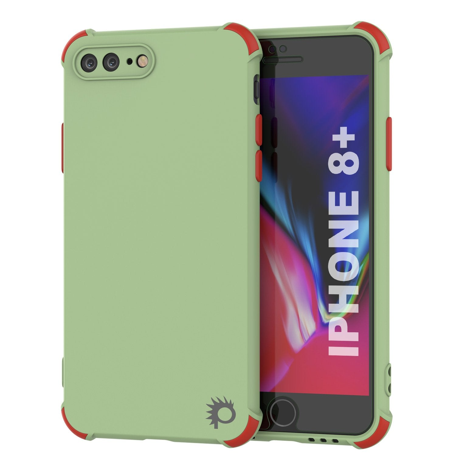 Punkcase Protective & Lightweight TPU Case [Sunshine Series] for iPhone 8+ Plus [Light Green]