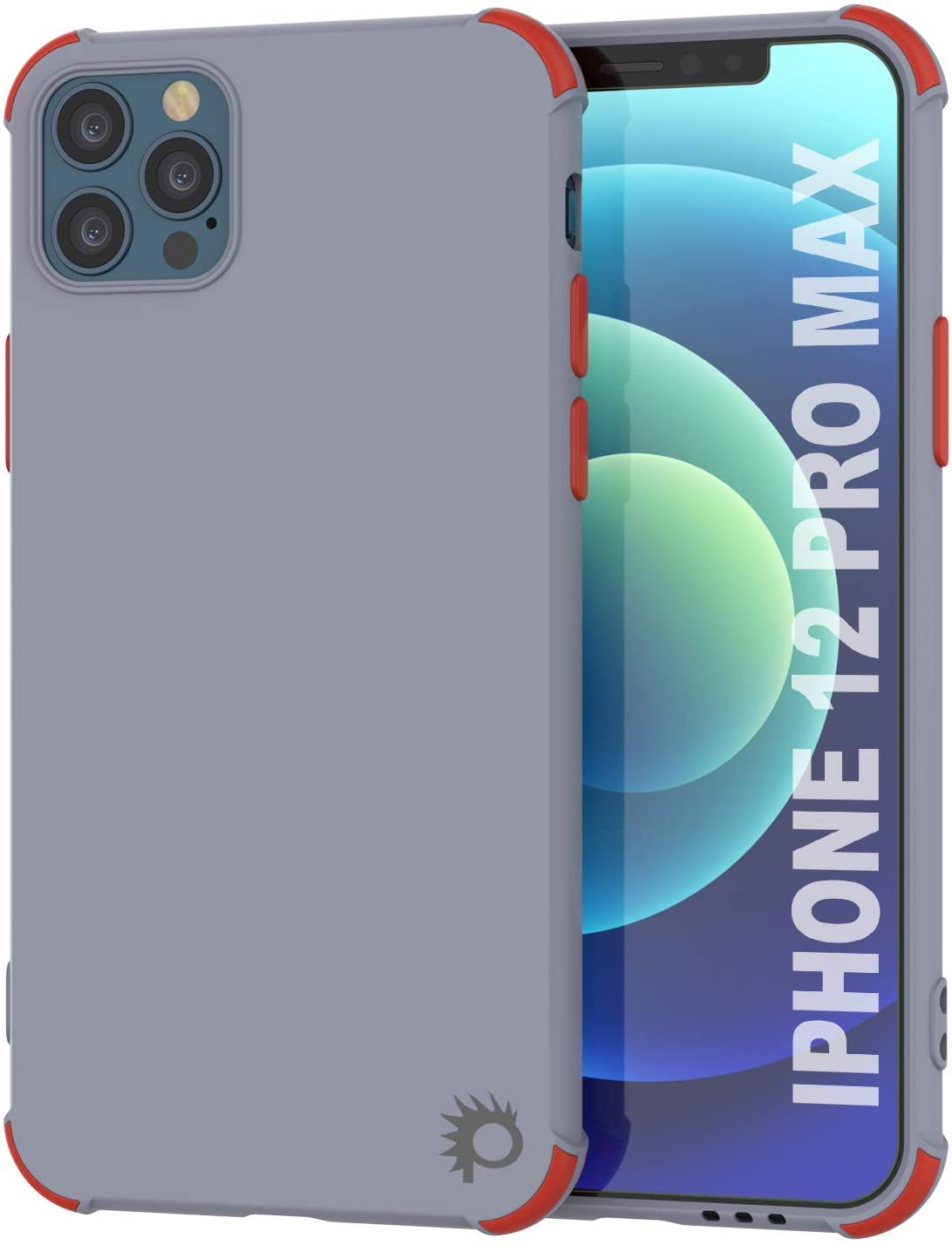 Punkcase Protective & Lightweight TPU Case [Sunshine Series] for iPhone 12 Pro Max [Grey]
