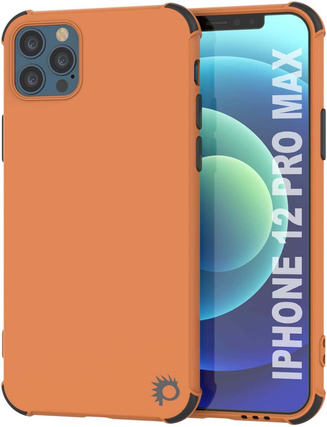 Punkcase Protective & Lightweight TPU Case [Sunshine Series] for iPhone 12 Pro Max [Orange]