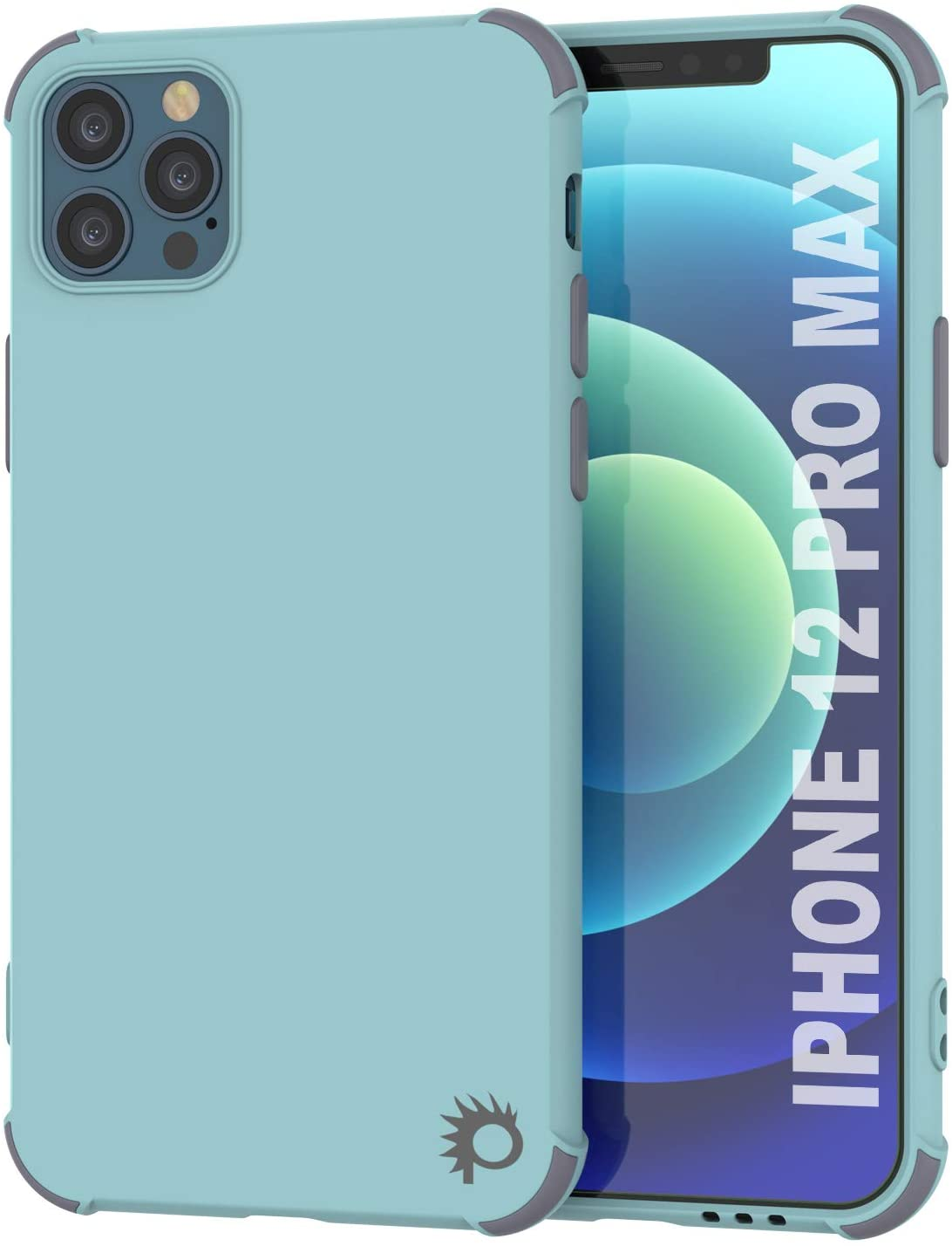 Punkcase Protective & Lightweight TPU Case [Sunshine Series] for iPhone 12 Pro Max [Teal]