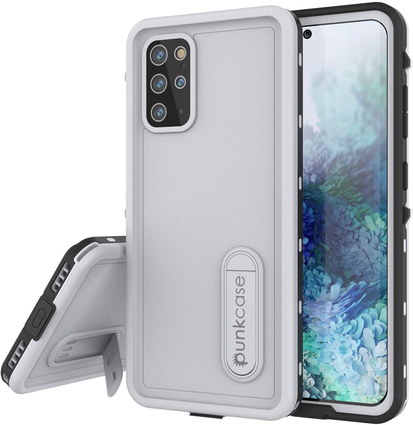 Galaxy S20+ Plus Waterproof Case, Punkcase [KickStud Series] Armor Cover [White]