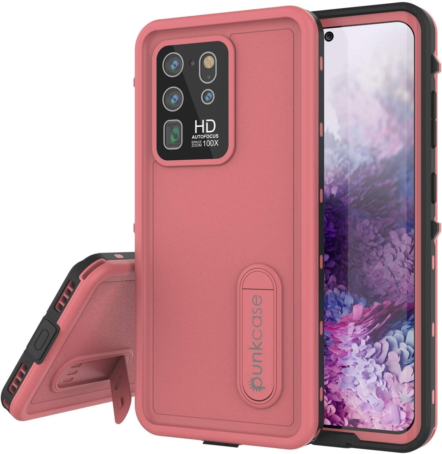 Galaxy S20 Ultra Waterproof Case, Punkcase [KickStud Series] Armor Cover [Pink]