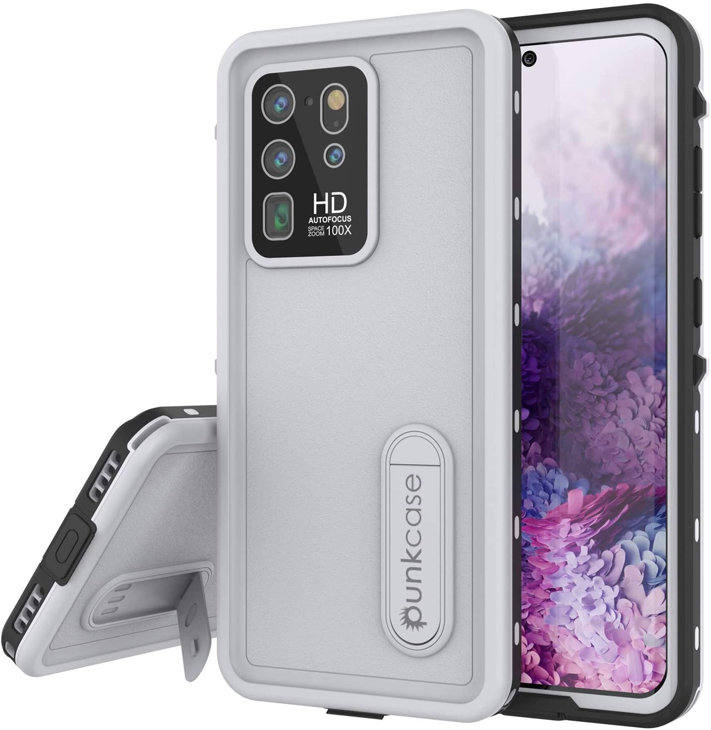 Galaxy S20 Ultra Waterproof Case, Punkcase [KickStud Series] Armor Cover [White]