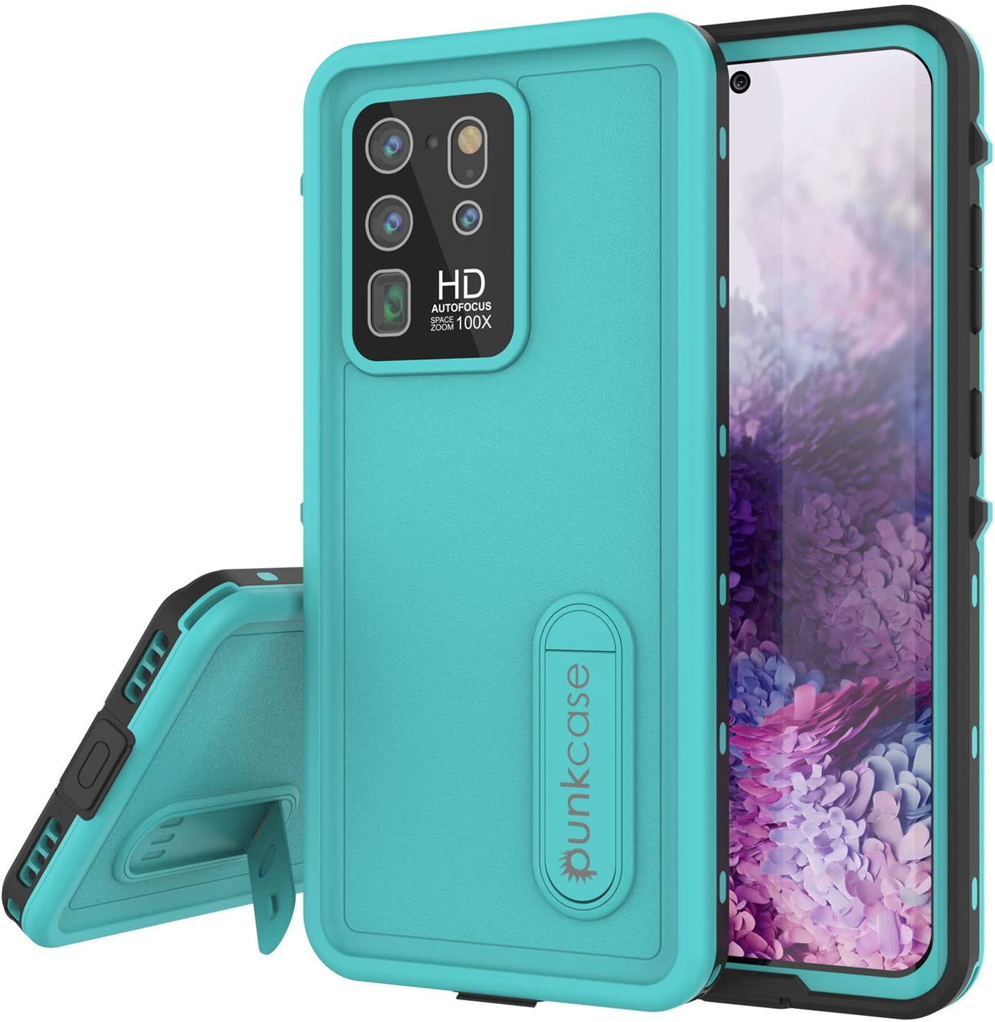 Galaxy S20 Ultra Waterproof Case, Punkcase [KickStud Series] Armor Cover [Teal]