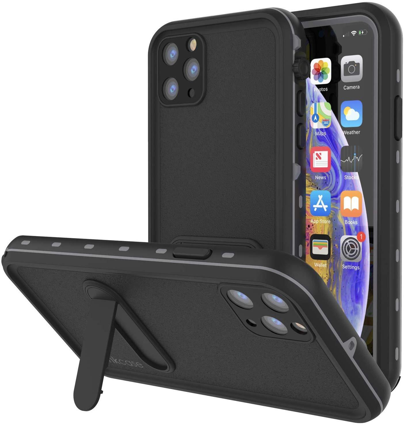 iPhone 11 Pro Max Waterproof Case, Punkcase [KickStud Series] Armor Cover [Black]