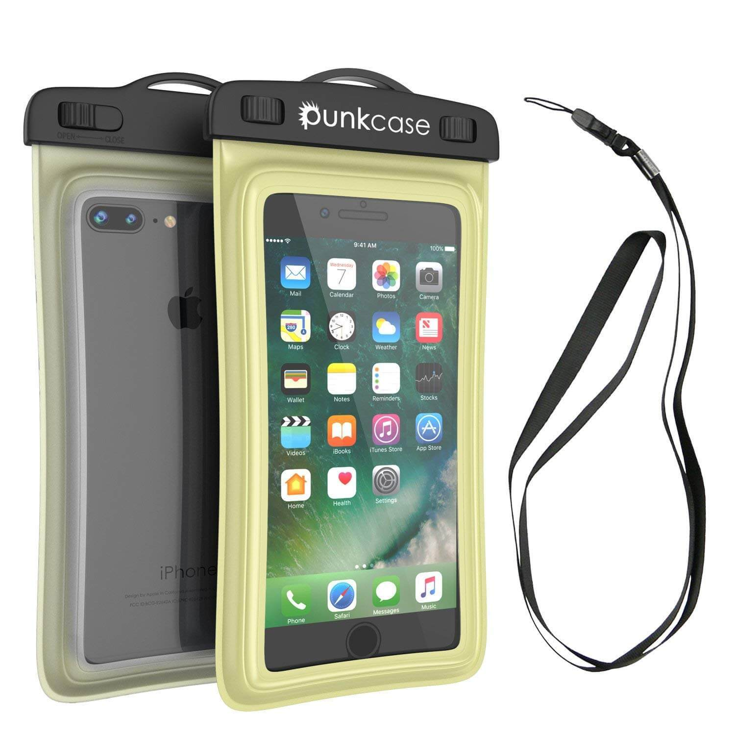 Waterproof Phone Pouch, PunkBag Universal Floating Dry Case Bag for most Cell Phones [Light Green]