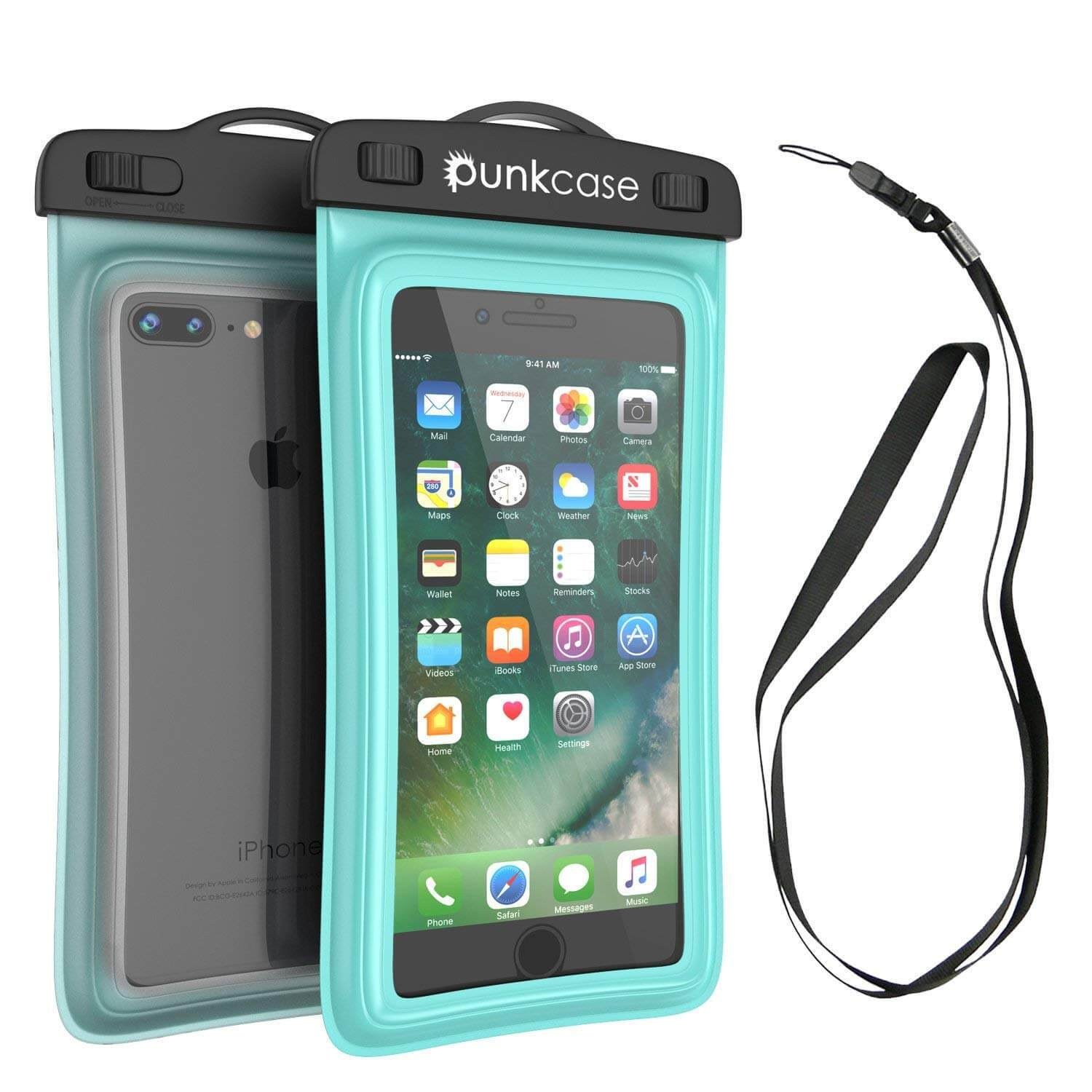 Waterproof Phone Pouch, PunkBag Universal Floating Dry Case Bag for most Cell Phones [Teal]