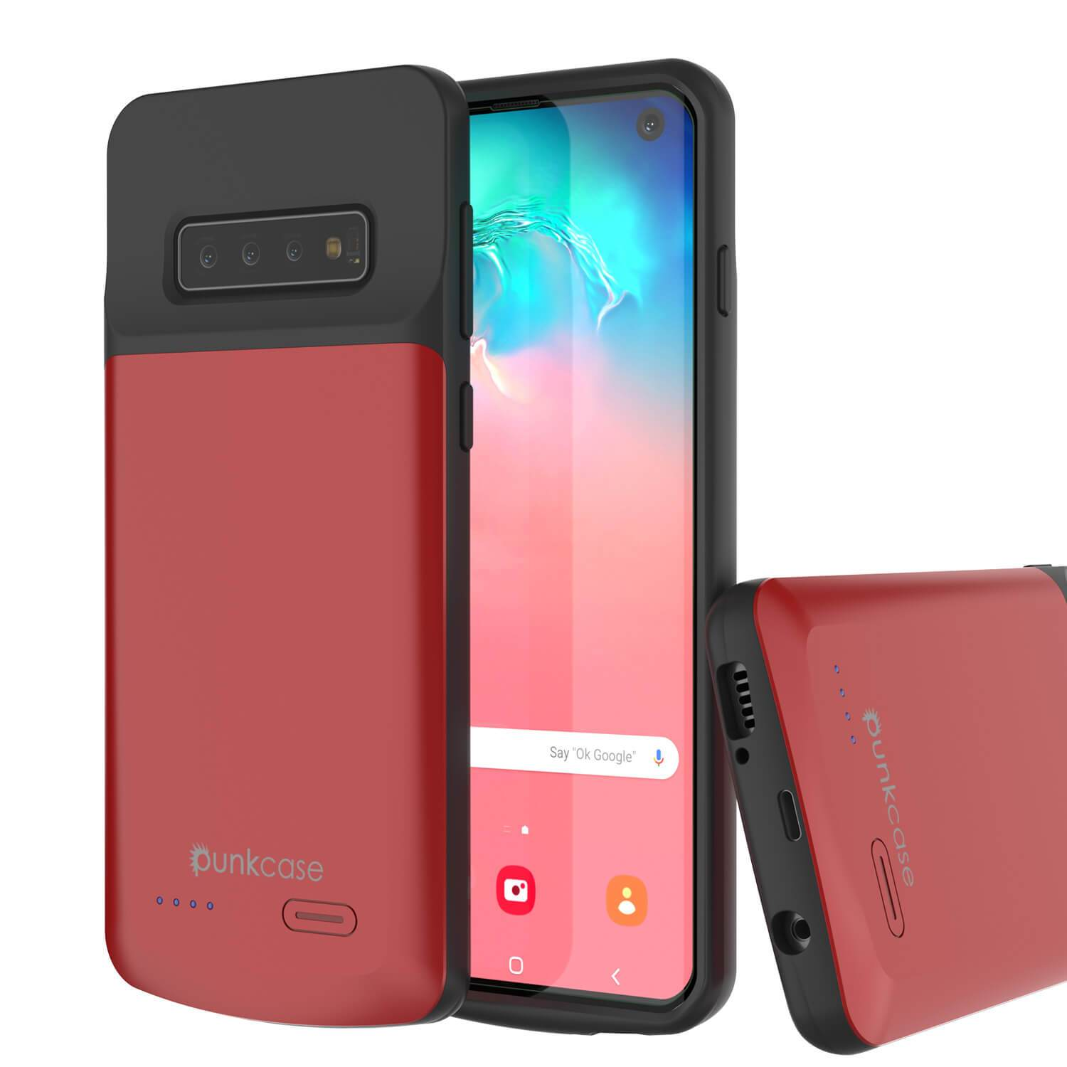 PunkJuice S10 Battery Case Red - Fast Charging Power Juice Bank with 4700mAh