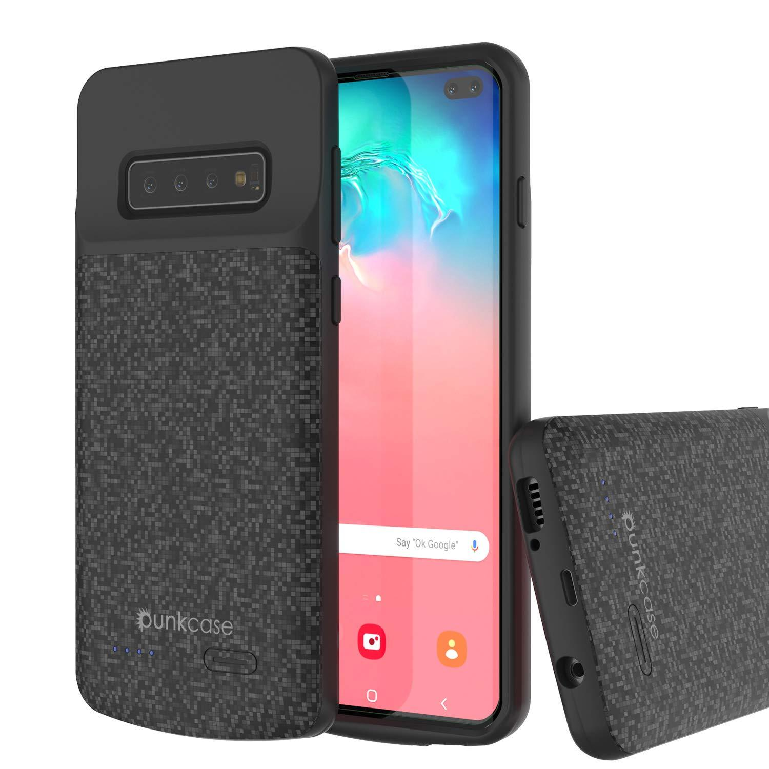 PunkJuice S10+ Plus Battery Case Black - Fast Charging Power Juice Bank with 5000mAh