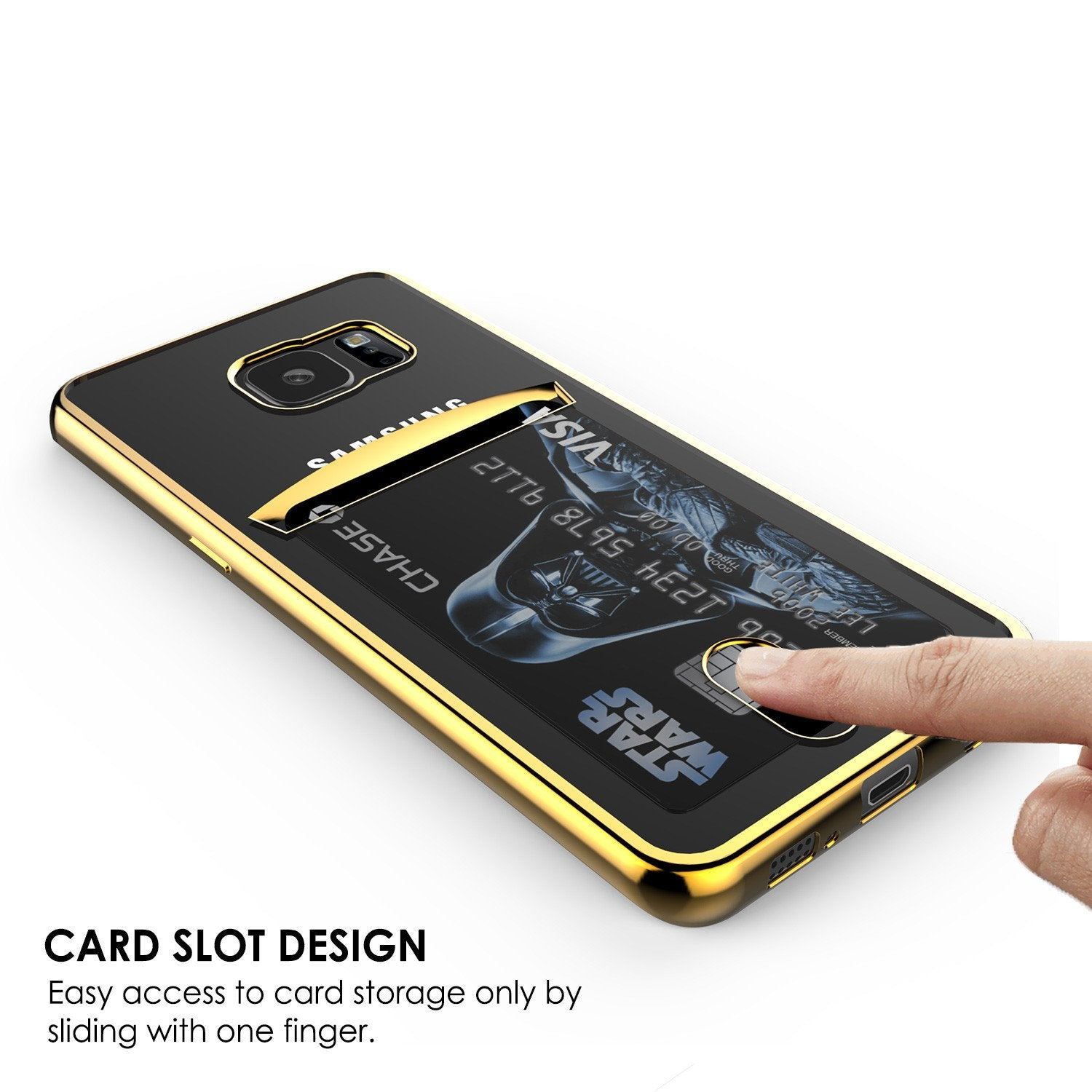 Galaxy S7 Case, PUNKCASE® LUCID Gold Series | Card Slot | SHIELD Screen Protector | Ultra fit