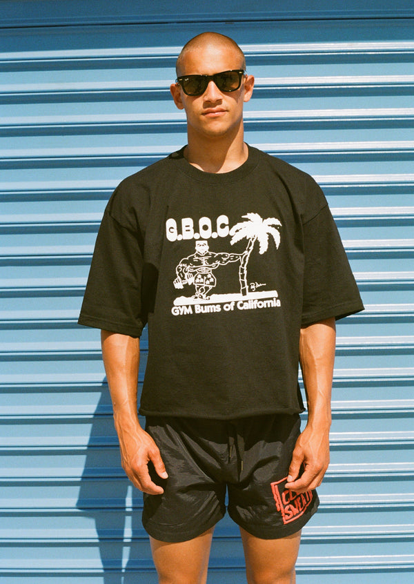 "Club Sweat ""Gym Bums"" Cropped Tee"