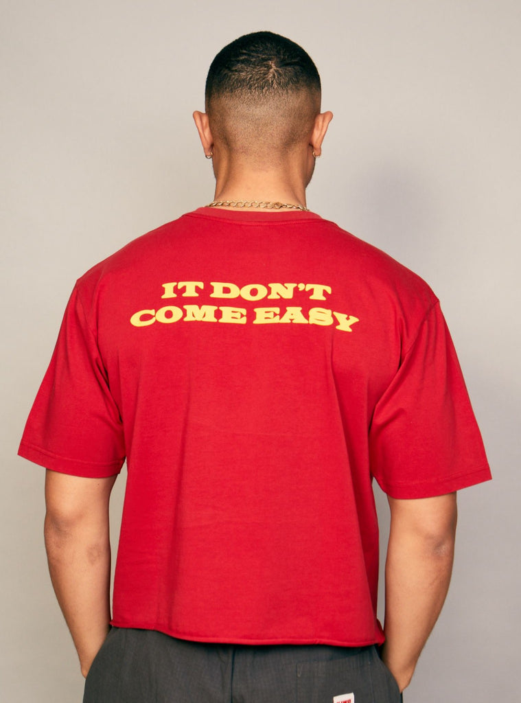 "Gold's Cropped ""It Don't Come Easy"" Tee"