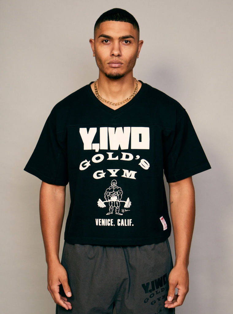 Gold's Cropped Football Jersey