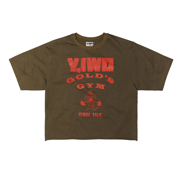 "Gold's Cropped ""Only The Strong Survive"" Tee"