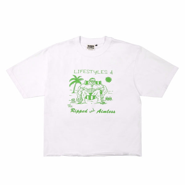 "**NEW Club Sweat ""Lifestyles"" Cropped Tee"