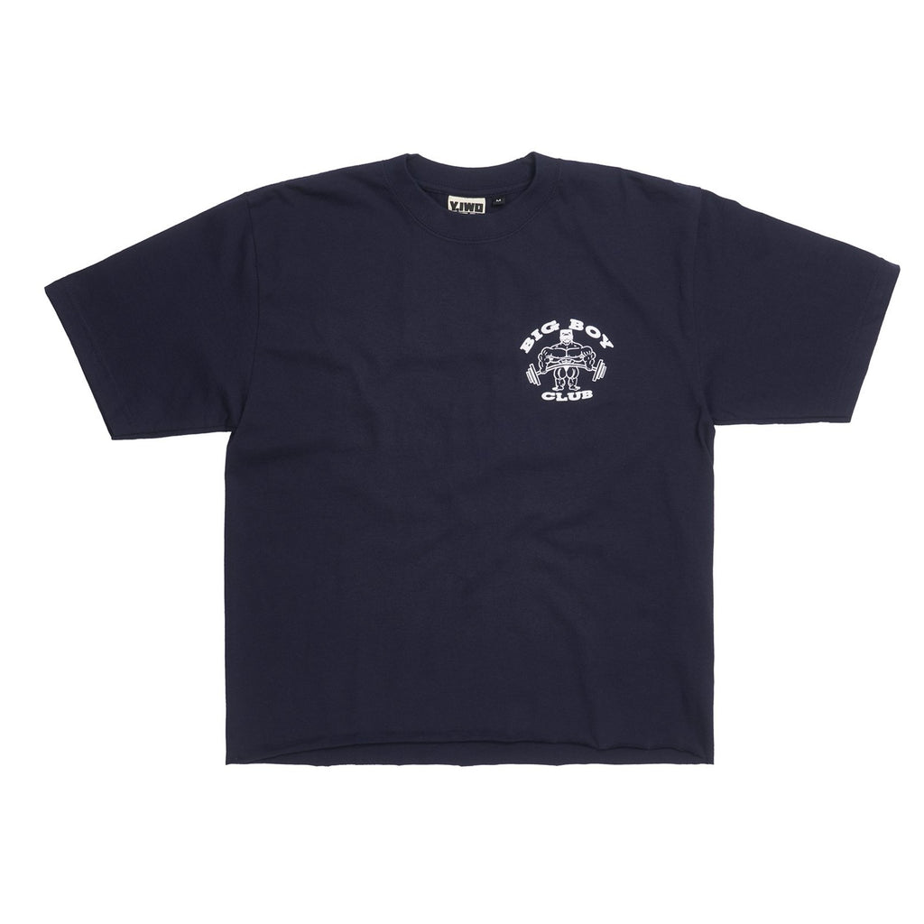 "**NEW Club Sweat ""Big Boy Club"" Cropped Tee"