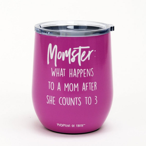 Magenta Momster Stainless Stemless  Glass